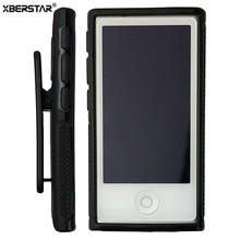 Soft TPU Rubber Skin Case Cover with Belt Clip for iPod Nano 7th Gen 7 7G(China)