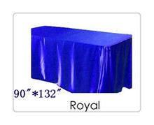 "Free shipping rectangle tablecloth size 90""*132"" color  royal blue  for wedding decoration /dining tablecloth"