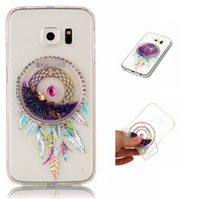 S6 TPU Bling Liquid Case For Samsung Galaxy S6 Edge G920 G925 Glitter Back Cover Luxury Shiny Charm Beauti Celulars Coque Fundas