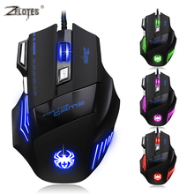 ZELOTES Brand Promotion 7200DPI LED Optical USB Wired Gaming Game Mouse Computer Mice For Computer(China)