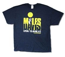 "MILES DAVIS ""LYON"" NAVY BLUE T-SHIRT NEW OFFICIAL ADULT COOL JAZZ BAND MUSIC High Quality 100% Cotton for Man T Shirts(China)"