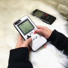 Gameboy Case Game Console Cover Tetris Phone Cases for iPhone X 6plus 6s 7 7plus 8 8plus Play Blokus Game Protective Cover(China)