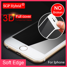 Tempered Glass For iPhone X 7 Plus Full Cover Soft Edge Glass Film for Apple iPhone 6 6S i7 i6 6 S plus Protective films Case(China)