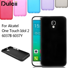 Dulcii for Alcatel One Touch Idol 2 6037B 6037Y Matte Soft TPU Skin Case Gel Cover Phone Bag for Alcatel One Touch Idol 2 6037B(China)