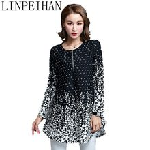 New Fashion Spring Women Blouses Shirts casual Loose printing white Blouse Long Sleeve Women Tops plus size 5XL blusa(China)