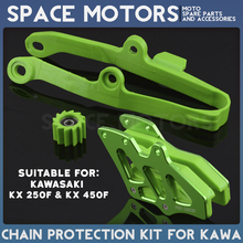 Chain guard protection and slider for motorcycle enduro motocross KAWASAKI KX250F KX450F 2009-2016 KX 250 450 F 250F 450F 09-15
