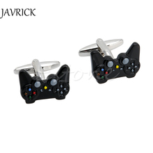 Fancy Black Game Consoles Handle Cuff Links Cufflinks for Mens Shirt Brand Novelty Fashion Cuff bottons Stainless Steel Jewelry