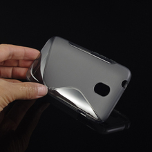 Soft S-Line Wave Anti-skid TPU Gel Case Skin for HTC Desire 210 / dual sim Mobile Phone Protective Rubber Matte Cover