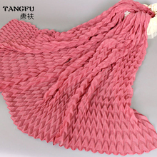 New Style Crushed Cotton Scarf Summer Solid grace Scarves Viscose Voile fashion twill Cotton Wraps Pashminas Shawls wholesale(China)