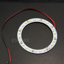 Hot 2Pcs Bright White 80mm Angel Eyes 24 SMD LED Ring Car Light-D2TB