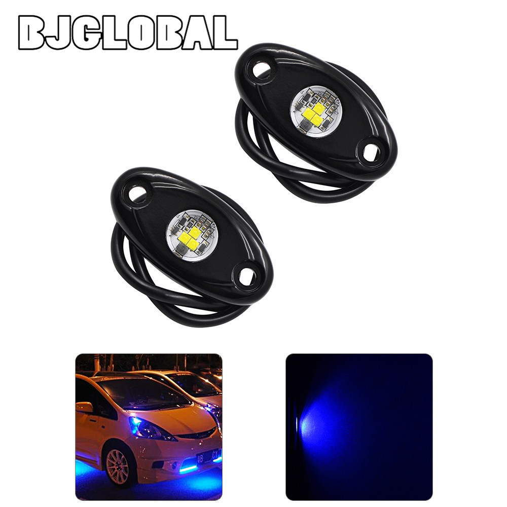 ROL-001  2Pcs Universal 9W High Power LED Rock Light Kit Underbody Glow Trail Rig Lamp For Jeep Truck SUV Off-Road Boat Xenon <br><br>Aliexpress