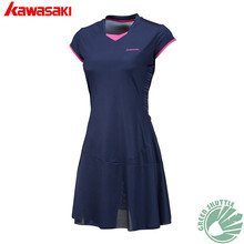 2017 Kawasaki Genuine Women Absorb Sweat Breathe Freely Badminton Clothing Dress Skirt SK-172701 Slim Movement clothes