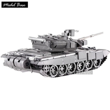 3d Puzzle Metal Hobby Toys For Adults Children Educational Games 3d Model Tank Assemblage Toys Puzzles Teaser Russian T90 Tanks(China)