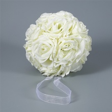 15x21cm Handmade Artificial Rose Flowers Kissing Hanging Ball DIY Bouquet Home Wedding Party Decor J2Y(China)