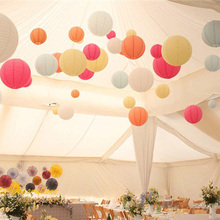 1Pcs 10/15/20/25/30cm Round Paper Lantern Paper Flower Balls Honeycomb Ball Hanging Lanterns For Wedding Party Decoration 8Z(China)