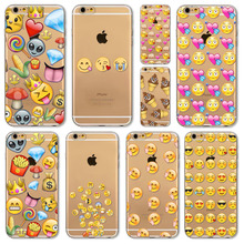 Cover For Apple iphone 6 6s Monkey Emoji fundas Paitned Soft Sillicon Transparent TPU Phone Cases Cover CD0061 1-20