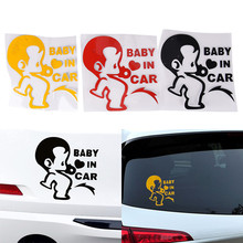 1PC Board Car Decal Window Bumper Laptop Wall Sticker Child Boys Baby In Car Car stickers Funny car stickers Lasting fit(China)