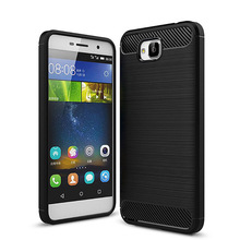 For Huawei Y6 Pro Enjoy 5 Soft Cover Carbon Fibre Brushed TPU Case for Huawei Y6 Pro/honor 4c pro/Honor Holly 2 Plus Shell(China)