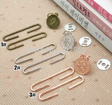 New Design Antique Bronze Silver rose Golden DIY Metal Purse Frames C Shape Coin bag accessory, 15sets/lot wholesale