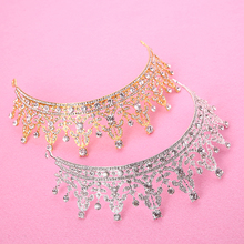 European Luxury Hair Jewelry Girl Bridal Hair Accessories New Tiara Crystal Crown Gold Silver Wedding Headband Hot Head Jewelry