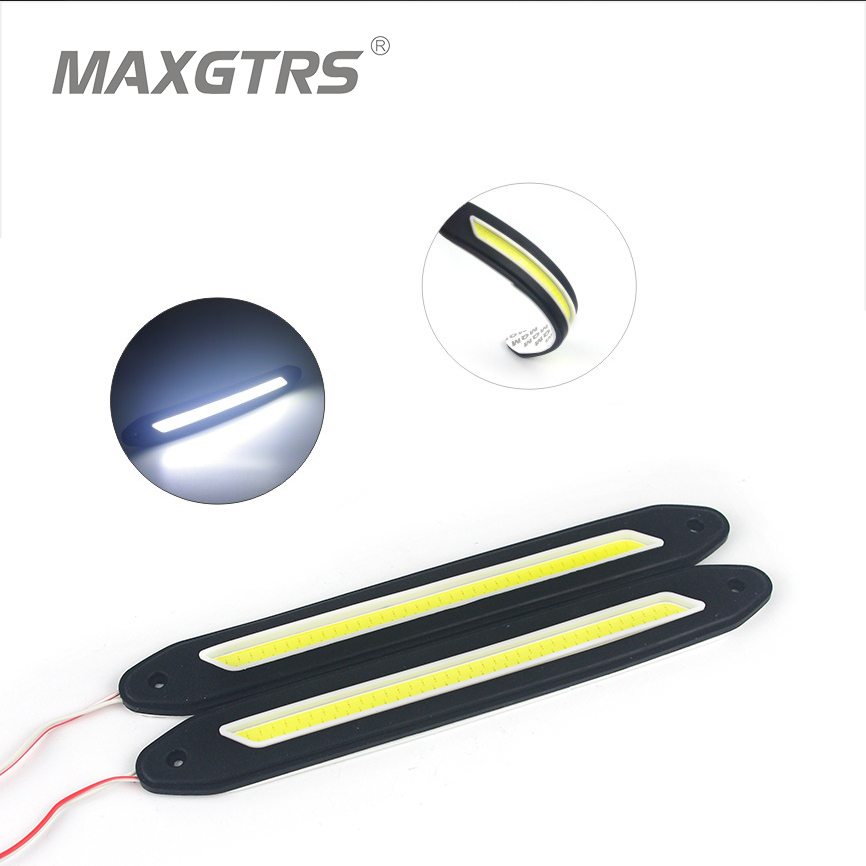 2x Strip Shape COB Bendable DRL Led Daytime Running Light 100% Waterproof COB  Lights Flexible LED Car Driving Lamp<br><br>Aliexpress