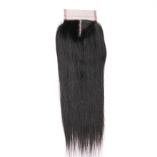 Queen like Human Hair Middle Part 130% Density Swiss Lace Non Remy Hair Natural Color Bleached Knots Straight Hair Lace Closure