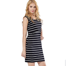 Maternity Clothes Stripped Dress for Pregnant Women Mother Breast-feeding Dress Clothes for Pregnant Women Sexy Dress for Pregna(China)