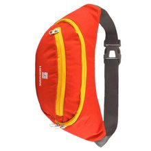 Hot LUCKSTONE Waterproof Breathable Running Bag for Travel Hiking jogging riding Waist Belt Zip Pack Sport Messenger Bags(Oran