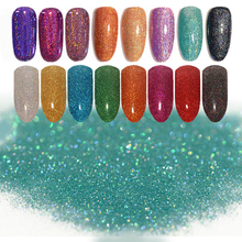 1 Box Holographic Colorful Shining Laser Nail Glitter Powder Ultra-thin Nail Dust Manicure Nail Art Glitter Powder