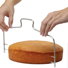 New Double Line Adjustable Stainless Steel Metal Cake Cut Tools Cake Slicer Device Decorating Mold Bakeware Kitchen Cooking Tool(China)