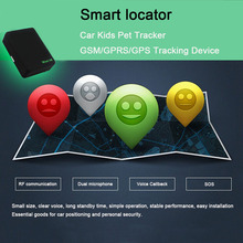 Cute Black Mini Global Locator Real Time Car Kids Pet Tracker GSM/GPRS/GPS Tracking Device(China)