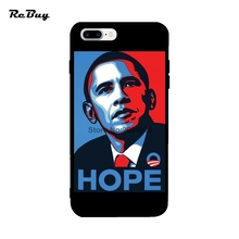 Barack Obama Cartoon For Iphone Cases 7 Ultra-thin Soft TPU For Iphone 7plus Case Back Covers For Iphone 6/6s/6plus/6s Plus(China)
