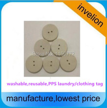 pps material coin waterproof rfid washable uhf Clothing tag garment button passive gen2 epc alien h3 chip UHF RFID Laundry Tag(China)