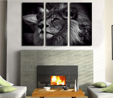 HD Canvas Print home decor wall art painting Picture(NO FRAME)Black and White Lion King
