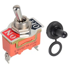 High quality!!!1pc New High Quality 15A 250V SPST 2 Terminal ON OFF Toggle Switch VE186 P(China)