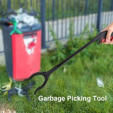 45cm Garbage Pick Up Tool Grabber Reacher Stick Rubbish Grabber Trash Extending Picking Tool Arm Grip Pick up Reach Hand Stick(China)