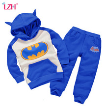 LZH Children Clothes 2017 Winter Girls Clothes Set Batman Hoodies+Pants 2pcs Kids Clothes Girl Sport Suit For Boys Clothing Sets