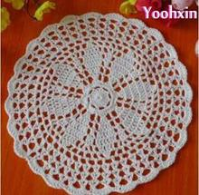 HOT DIY crochet table place mat cloth lace cotton placemat Cup coaster doilies drink trivet pad mug holder kitchen wedding decor(China)