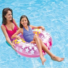 Adult Inflatable Swim Ring Life Buoy Floating Ring Armpit Swim Lap PVC Swimming Circle With Handle(China)