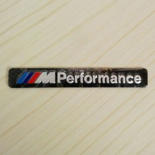 ///M Performance Black Car Styling Auto Aluminium Body Side Rear Emblem Badge Stickers for BMW M3 M5 M6 1-7 E X Series Universal(China)
