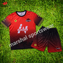 little league football uniforms OEM customize usa soccer jersey soccer set red(China)