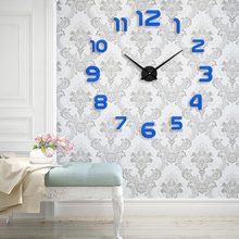 Muhsein 2017 New Metal Moderm DIY Wall Clock Acrylic Metal Mirror Wall Watch Home Decoration Super Big Clocks Free Shipping()