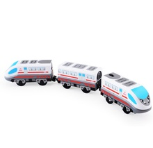 FIT Thomas wooden track Brio track RRC EMU combination electric RRC locomotive compatible magnetic train with 2 trucks(China)