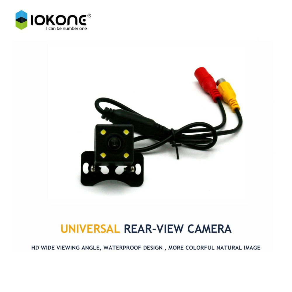 Free ship CCD HD car rear reverse camera backup camera with night vision for universal car for all cars water proof dust proof(China (Mainland))