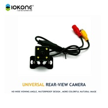 Free ship CCD HD car rear reverse camera backup camera with night vision for universal car for all cars water proof dust proof(China)