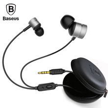 Baseus Bass Sound Earphone for Phone In-Ear Sport Gaming Earphone for iPhone 5 6 iPod Samsung High Fidelity Stereo Music Headset(China)