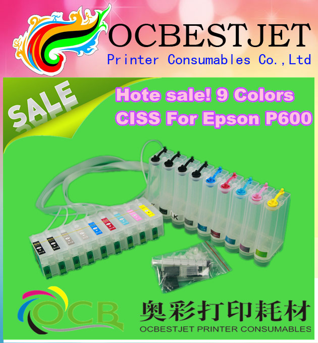 Ocbestjet T7601-T7609 CISS ink cartridge for Epson SC-P600 with ARC chip<br><br>Aliexpress
