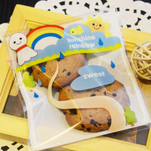10*10+3cm 100pcs/lot Kawaii Sunny Doll Bakery Cookie Gifts Soaps Plastic Self-Adhesive Cello OPP Bags