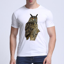 2018 Newest Deadpool Men T shirt O-NECK 3D The owl printed T-shirts summer crossfit Comfortable breathe freely t-shirt men(China)