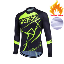 Pro Team Tour de France Bicycle Cycling Jersey Sports Men Riding Cycle Clothing Bike Long Sleeve Winter Thermal Fleece Jerseys